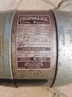 Parvalux Electric Motor S266-79 Watt 40 Phase 1 230 Volt