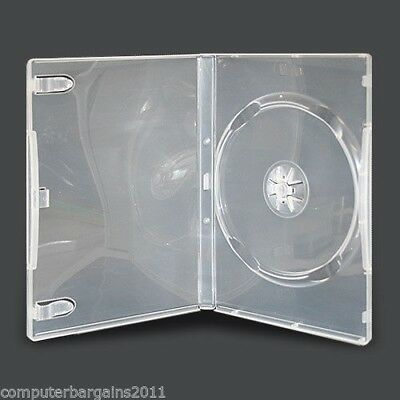 100 Standard Single 14mm DVD Cover HOLD 1 Disc Case CLEAR - COURIER