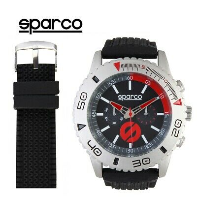 NEW Sparco Jackie Watch Black and Red Racing Driving Motor Sport Sale