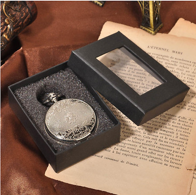 Mens Silver Hand-winding Mechanical Double Hunter Antique Traveller Pocket Watch