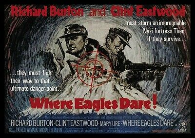 Clint Eastwood Where Eagles Dare Advertising POSTER #2