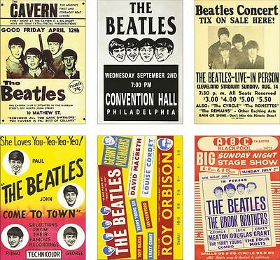 The Beatles Concert Posters POSTCARD Set #4