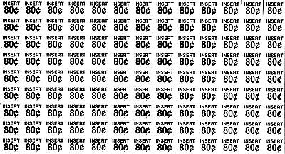 ROWE 4900 5900 Snack Price Label Sheets 80-85 cent 2 sheets