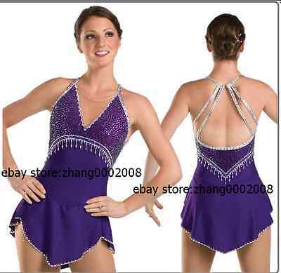 Ice skating dress. purple Competition Figure Skating / Baton Twirling custome