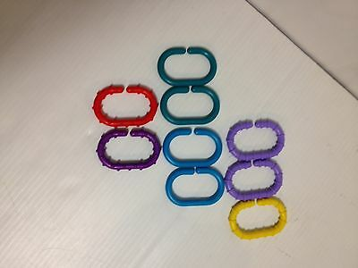 Sassy Baby Links Plastic Toy Stroller Clips