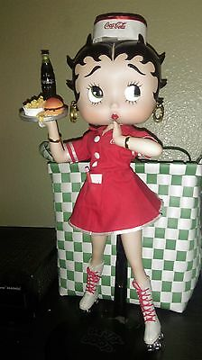 """Limited Ed. 16"""" Coca-Cola Betty Boop Porcelain Doll 559100 """"Betty's Diner"""""""