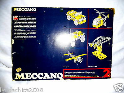 Vintage Meccano Construction Set 2 1970's ***VERY RARE & HARD TO FIND***