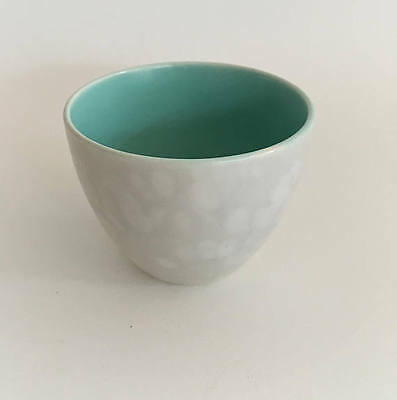 Poole Pottery England Twintone Ice Green and Seagull Petite Sugar Bowl c1970