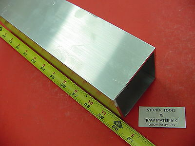 "3""x 3""x 1/8"" Wall x 60"" Long ALUMINUM SQUARE TUBE 6063 T52 3"" SQ x .125"""