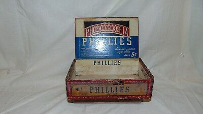 Vintage1935 Bayuk Phillies Perfecto Cigar Box 5 Cent