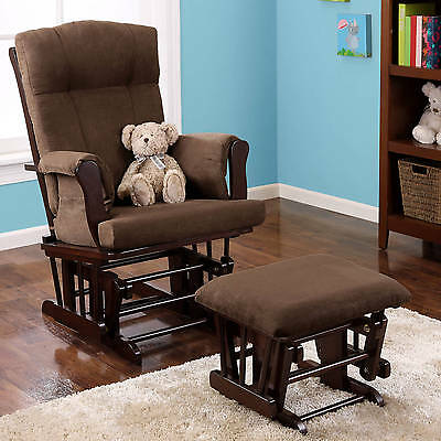 nursery rocking chair with footrest Ottoman Baby Relax soft for kids Room Indoor