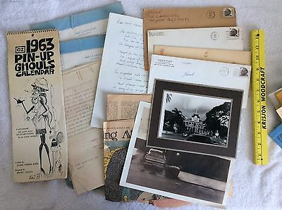 Ephemera Pictures Letter Legal Doc's From the 1920's - 1970's Over Two Pounds