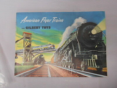 """Vintage 1952 """"american flyer and gilbert toys catalog/with price sheet"""