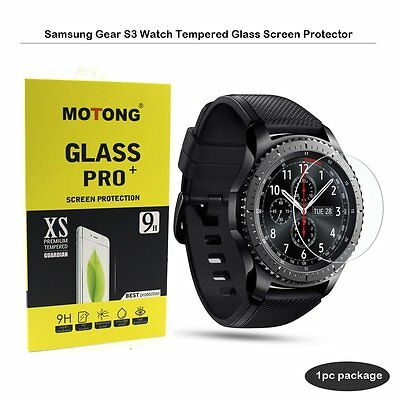 MOTONG Tempered Glass Screen Protector for Samsung Gear S3 Classic,9 H From Real