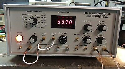 Colby Instruments PG1000A Gigahertz ECL/TTL Pulse Generator TESTED! NICE!!