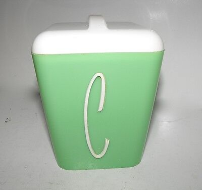 Retro Gay Ware Green Coffee Canister with White Lid In Great Condition