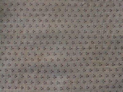 ~Back In Time Textiles~Antique 1880 CHEDDAR calico Fabric piece~