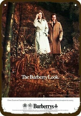 1977 BURBERRYS English Clothes Vintage Look REPLICA METAL SIGN --BURBERRY LOOK