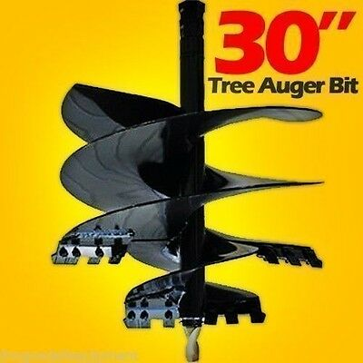 """Tree Auger Bit For Skid Steer Augers, 30""""  Uses 2"""" Hex Drive"""