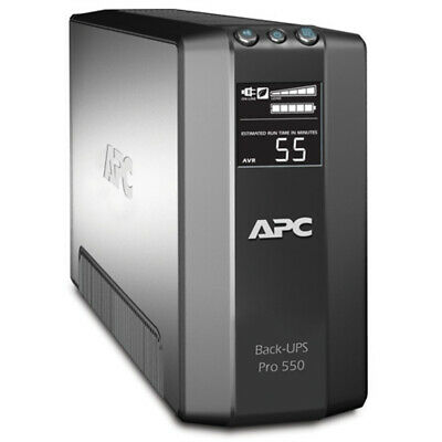 APC Power Saving Back UPS Pro 550 Uninterruptible Power Supply 330W LCD BR550GI