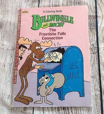 Vintage ROCKY AND BULLWINKLE Marvel Coloring Book UNUSED 1987