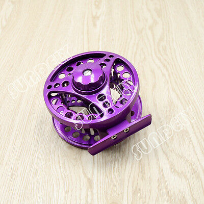 Purple Aluminum Fly Fishing Reel 5/6 Left and Right Hand Retrieve 85mm