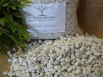 Snow Stone 10mm -  White Decorative Gravel, Garden, Pots, Cactus, Succulent
