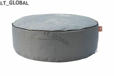 ROUND BEAN BAG Cover GREY Cosy Room Furniture Portable Seat Indoor/Outdoor
