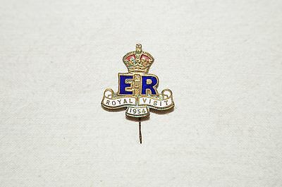Collectable - Vintage - 1954 - Royal Visit - Pin - Over Half a Century Old.