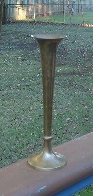 Vintage Copperart Brass Vase *Tall Long Stem *made in India