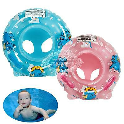 Swimming Ring/Seat Handles Toddler Baby Safety Aid Float Pool Beach Swim-Trainer