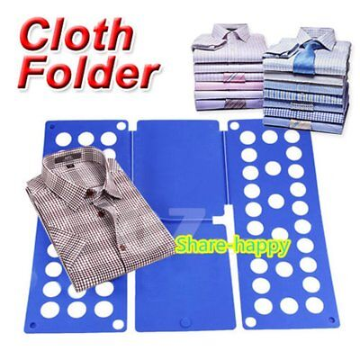 Clothes T-Shirt Folder Magic Folding Board Flip Fold Laundry Organizer qw