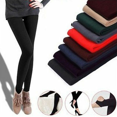 Warm Winter Leggings Thick Fleece Stretch Skinny Pants Trousers Footless UO