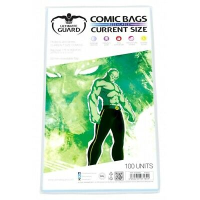 Ultimate Guard Current Size Resealable Acid-Free Comic Bags - Qty 100