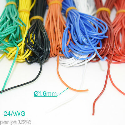 4 Meter 24AWG Flexible Soft Silicone Wire Tin Copper RC Electronic Cable 8 color