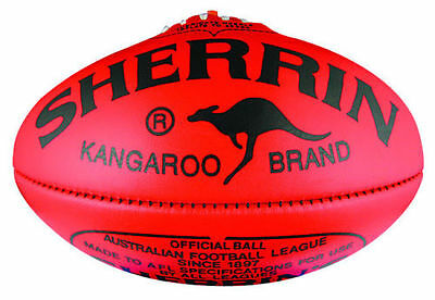 Sherrin KB Football A Grade Kangaroo Leather  Red Or Yellow - Size 5 RRP $169.95