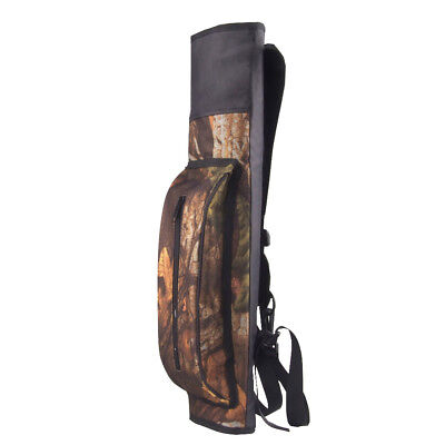 2pcs Camouflage Three Point Back Archery Quiver Shoulder Strap Bow Arrow Holder