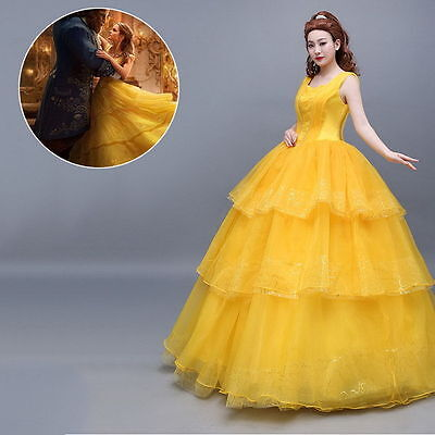 2017 Movie Belle Dress Wedding Gown Yellow Beauty And The Beast