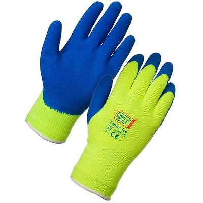 Topaz Ice Gloves Size 10 (1) Latex Grip, Handling, Work wear, Warm