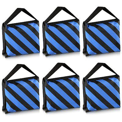 Neewer 6 Pack Black Blue Sand Bag Photography Studio Video Stage Film