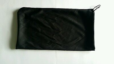 Qty 10 Gift Bags Soft Black Microfiber Pouch Small Medium Size 9.75 x 5.5 inches
