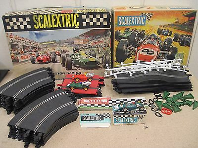 Vintage Triang Scalextric Set 50 Set 30 1960's Incomplete Boxed With Cars