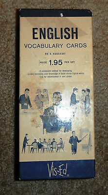 Vintage VIS-ED English Vocabulary Cards