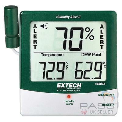 Extech 445815 Hygro Thermometer Humidity Alert with Dew Point /Genuine UK Extech