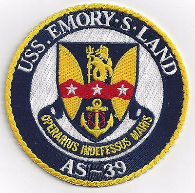 USS Emory S Land AS-39 Submarine Tender- 4 inch FE - BCPatch Cat. No. C6308