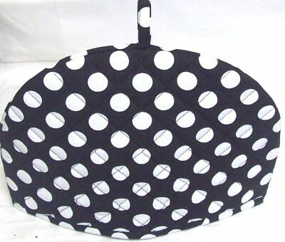 Black & White Retro Polka Dot Cotton Tea Pot Cosy Cover Warmer 34cm x 24cm