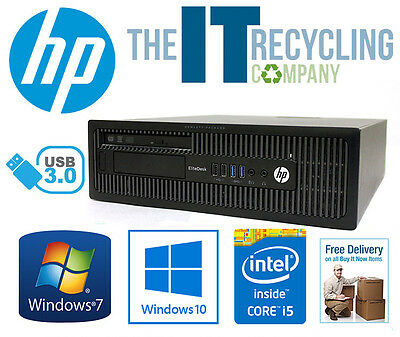 HP ELITEDESK 800 G1 SFF - i5-4590 3.3GHZ CPU, 4/8GB RAM, 500GB HD, WINDOWS 7/10