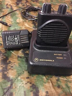 Motorola Minitor Iv Vhf Fire Pager 2 Ch W/ Charger