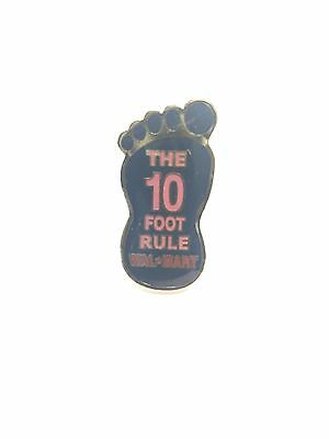 Rare Walmart 10 Foot Rule Wal Mart Lapel Pin Pinback Brand New 040