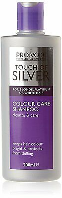Touch Of Silver Colour Care Shampoo 200ml Shine Booster For grey Blonde Hair NEW